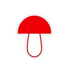 Icon sticker realistic design on paper mushroom vector