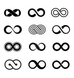 Infinity symbol set vector