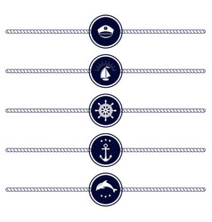 maritime emblem icon vector image vector image