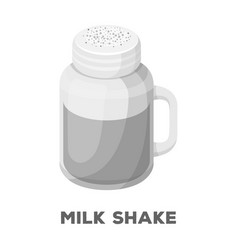 milk shakedifferent types of coffee single icon vector image