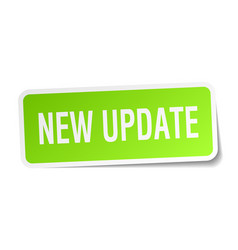 New update square sticker on white vector
