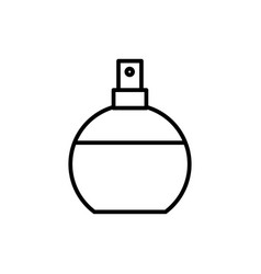 perfume line icon sign on vector image