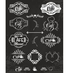 set of cafe labels design elements vector image vector image