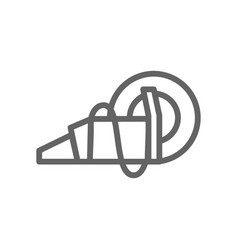 simple circular saw line icon symbol and sign vector image