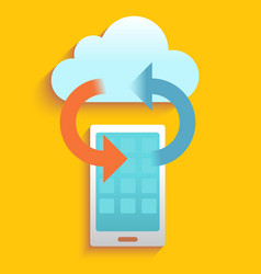 Smartphone data clound vector