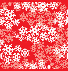 Snow seamless pattern christmas winter holiday vector