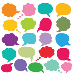 speech and thought bubbles set vector image vector image