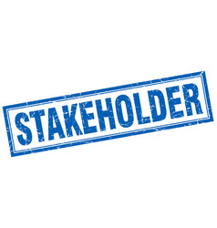 Stakeholder square stamp vector