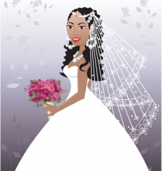 wedding gown vector image