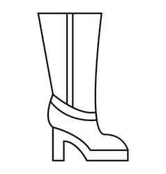 Women boots high heel icon outline style vector