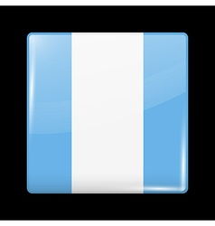 Flag of guatemala glossy icon square shape vector