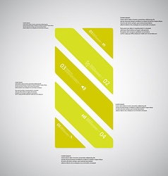 Bar template consists of five green parts on light vector