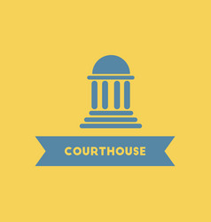 Courthouse building vector