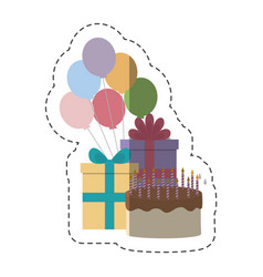 Birthday cake design vector