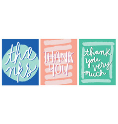 Thanks thank you lettering design vector