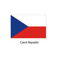 flag of czech republic vector image