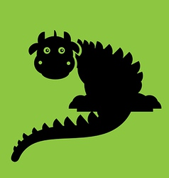 Dragon flat vector