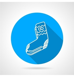 Knitted socks flat icon vector