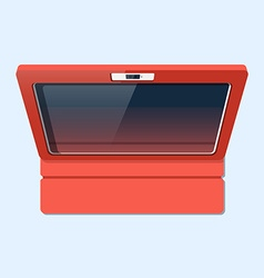 Tablet in case flat style top view vector