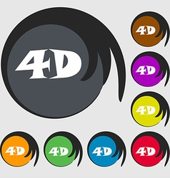 4d sign icon 4d-new technology symbol symbols on vector