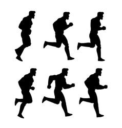 Running man silhouette animation sprite vector