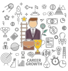 Concept career growth vector