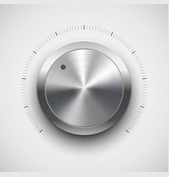 Chrome volume dial vector