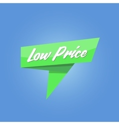 Low price green sale Tag vector image