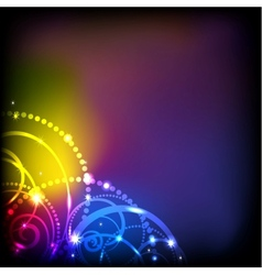 Abstract colorful lights background EPS 10 vector image vector image