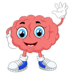 Brain cartoon vector image