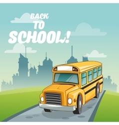 Bus back to school design vector