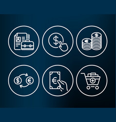 Buy currency currency exchange and finance icons vector