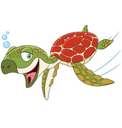 Cartoon turtle animal vector