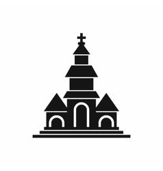Church icon simple style vector