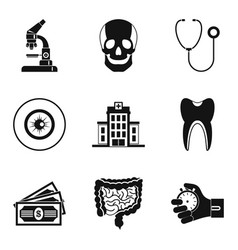 Diagnostic icons set simple style vector