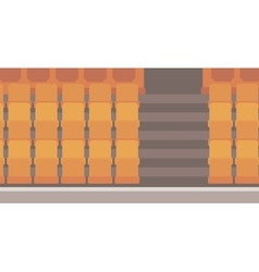 Empty theater seats vector