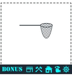 Fishing net icon flat vector image