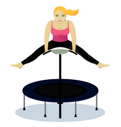 fitness on trampoline vector image