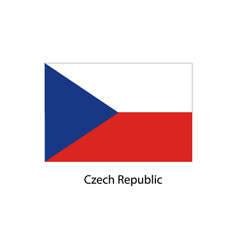 flag of czech republic vector image vector image