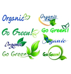 Go Green icons and symbols vector image