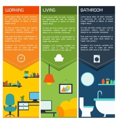 House interior banners vector image