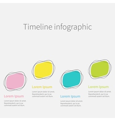 Infographic timeline four step template flat vector