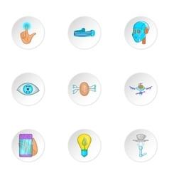 Innovation icons set cartoon style vector