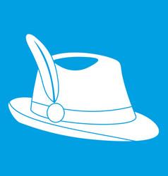 irish hat icon white vector image