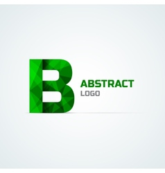 Letter B logo template vector image vector image