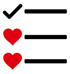 Love list icon vector