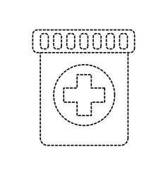 Medical bottle capsule healthcare pharmacy vector