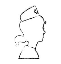 Nurse avatar profile vector