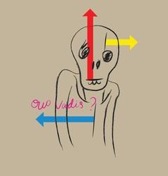 Quo vadis vector image vector image