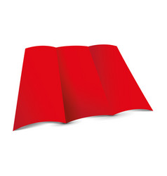 red tri-fold leaflet vector image vector image